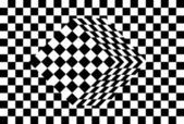 Black and white cube optical illusion vector — Stock Vector