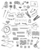 Hand made and needlework vector set — Wektor stockowy