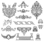 Antique and baroque ornaments vector set — Stock Vector