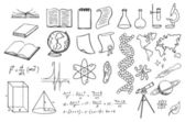 Science and education vector set — Stock Vector