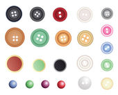 Many different buttons, vector — Stock Vector