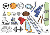 Sport items vector set — Stock Vector