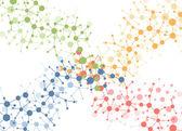 分子接続ベクトルの背景の色 — ストックベクタ