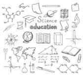 School en onderwijs symbolen vector — Stockvector