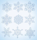 Many different snowflake vector — Stock Vector