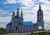 Russian village church — Stock Photo