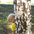 Stock Photo: Child hid