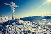 Zimní vrchol hory — Stock fotografie