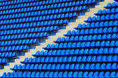 Amphitheater of dark blue seats — Stock Photo