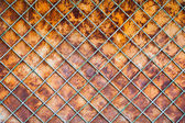 Old rusty fence background — Stock Photo