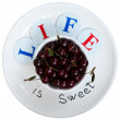 Life is sweet - proverb visualization — Stock Photo