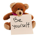 Reminder of the necessary be yourself — Stock Photo