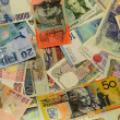 Stock Photo: Various banknotes background