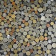 Background with many coins — Stock Photo