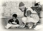 Dois irmãos em madagascar — Foto Stock