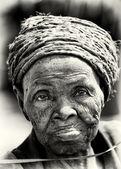 Bardzo staruszka z beninu — Zdjęcie stockowe