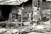 Dames du bénin, la vaisselle — Photo