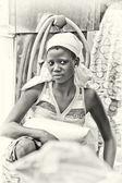 Portret van een mooi meisje van benin — Stockfoto