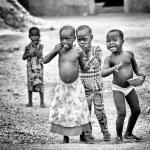 Benin children eat together — Stock Photo #11905986