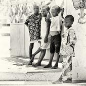 Grupp av barn i benin — Stockfoto