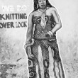 Stok fotoğraf: Draw on wall of duilding in Ghana