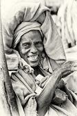 Optimistic Ethiopian lady — Stock Photo