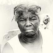 Señora ghanés enojada — Foto de Stock
