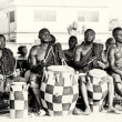 Ghanaian men play the drums to create some rhythm — Stock Photo