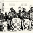 Stock Photo: Ghanaimen play drums to create some rhythm