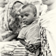 Stock Photo: Little baby dhis mother in Ghana