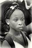 Uma senhora ganês com cabelo bonito — Fotografia Stock