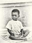 Little Ghanaian boy poses — Stock Photo