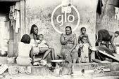 Sommige ghanese families hebben een diner — Stockfoto