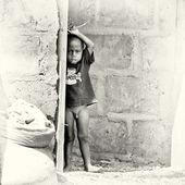 Half naked little boy from Ghana — Stock Photo