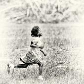 Ghanský krasavicí běží — Stock fotografie