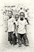 Three Ghanaian boys pose — Stock Photo