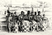 Ghanaian drummers — Stock Photo