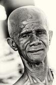 A Ghanaian man seems to be an alien — Stock Photo