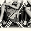 Stock Photo: Legs of Ghanaipupil while they are studding