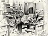 Dziewczynka Ghany jest zły z powodu budzi się — Zdjęcie stockowe