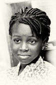 A beautiful Ghanaian girl poses for the camera — Stock Photo