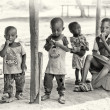 Stock Photo: Group of Ghanaichildren occupied by their own business