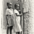 Two little girls from Ghana — Stock Photo