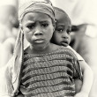 Stock Photo: Two poor babies from Ghana