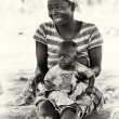 Mother and son in Ghana — Stock Photo