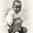 Little boy from Ghana poses — Stock Photo