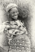 Happy pregnant woman from Ghana — Stock Photo