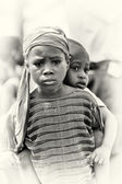 Two poor babies from Ghana — Fotografia Stock