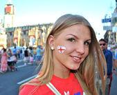 Nice English football fan — Stock Photo