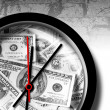 Stock Photo: Dollar clock